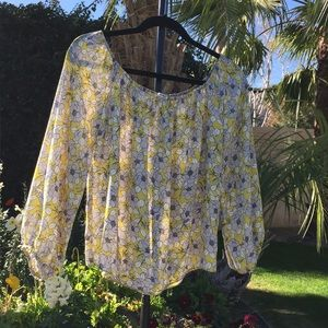 Sexy floral off the shoulder blouse